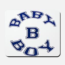 Multiple Baby Boy Baby B Announcement Mousepad