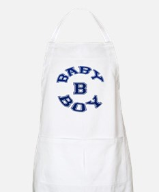 Multiple Baby Boy Baby B Announcement BBQ Apron