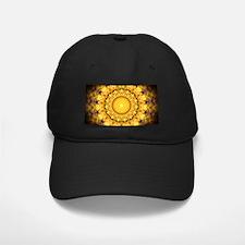 Golden Petal Mandala Kaleidoscope Baseball Cap