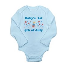 Babys 1st 4th of July Body Suit