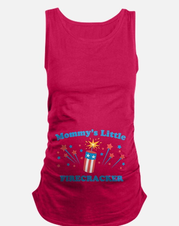 Mommys Little Firecracker Maternity Tank Top