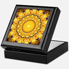 Golden Petal Mandala Kaleidoscope Keepsake Box