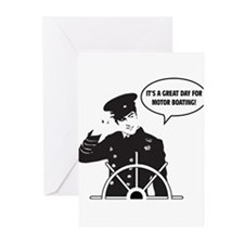 motor boating Greeting Cards (Pk of 10)