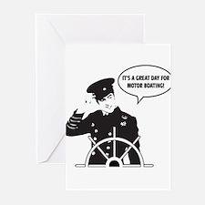 motor boating Greeting Cards (Pk of 10)