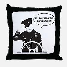 motor boating Throw Pillow