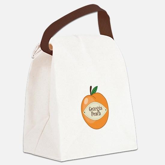 Georgia Peach Canvas Lunch Bag