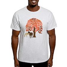 Autumn Equestrian Horses T-Shirt