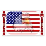 American Eagle Sticker (Rect.)