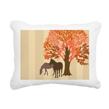 Autumn Equestrian Horses Rectangular Canvas Pillow