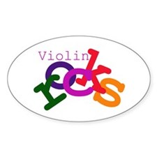 Violin Rocks Oval Decal