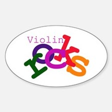 Violin Rocks Oval Decal