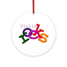 Violin Rocks Ornament (Round)