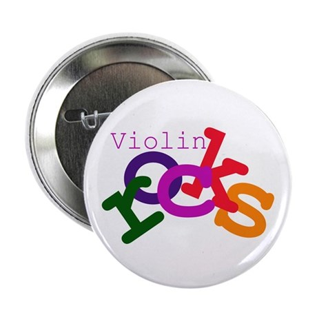 "Violin Rocks 2.25"" Button (100 pack)"