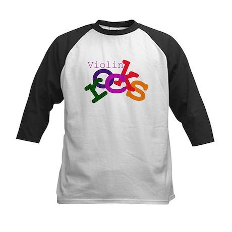 Violin Rocks Kids Baseball Jersey