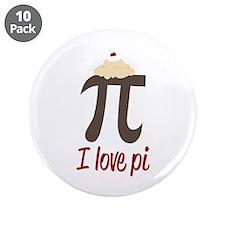 "I Love Pi 3.5"" Button (10 pack)"