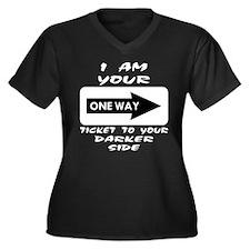 Ticket To Da Women's Plus Size V-Neck Dark T-Shirt