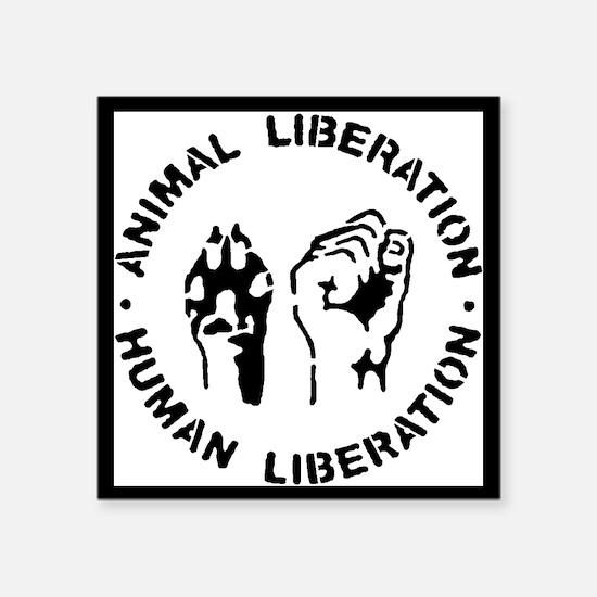 "Animal Liberation Square Sticker 3"" x 3"""