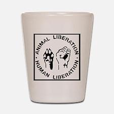 Animal Liberation Shot Glass