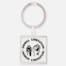 Animal Liberation Square Keychain
