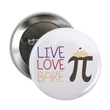 """Live Love Bake 2.25"""" Button (10 pack)"""