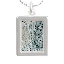 Mystic Forrest Silver Portrait Necklace