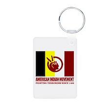 AIM (Fighting Terrorism Since 1492) Keychains
