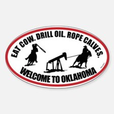 Oklahoma Team Roper Sticker (Oval)