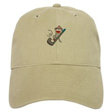 Sock Monkey Golf Baseball Cap