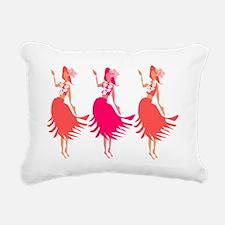 Hula Corals Rectangular Canvas Pillow