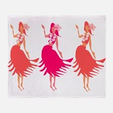 Hula Corals Throw Blanket