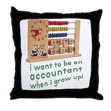 Future Accountant Throw Pillow