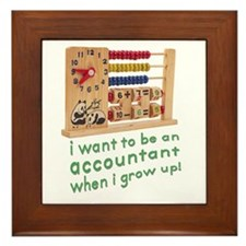 Future Accountant Framed Tile