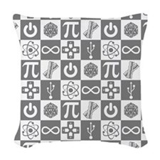 Geek Symbols Woven Throw Pillow