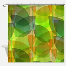 Modern Holographic Abstract Leaf Shower Curtain