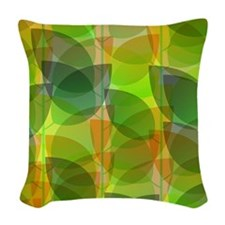 Modern Holographic Abstract Leaf Woven Throw Pillo