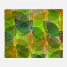 Modern Holographic Abstract Leaf Throw Blanket