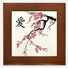 Cherry Blossom Framed Tile