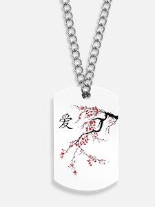 Cherry Blossom Dog Tags