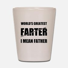 World's Greatest Farter Father Shot Glass