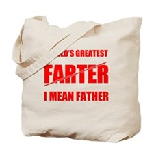 World's Greatest Farter Father Tote Bag