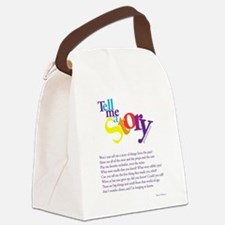 Tell me a story Canvas Lunch Bag