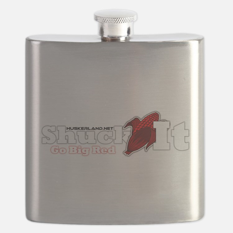 Cute Huskers Flask