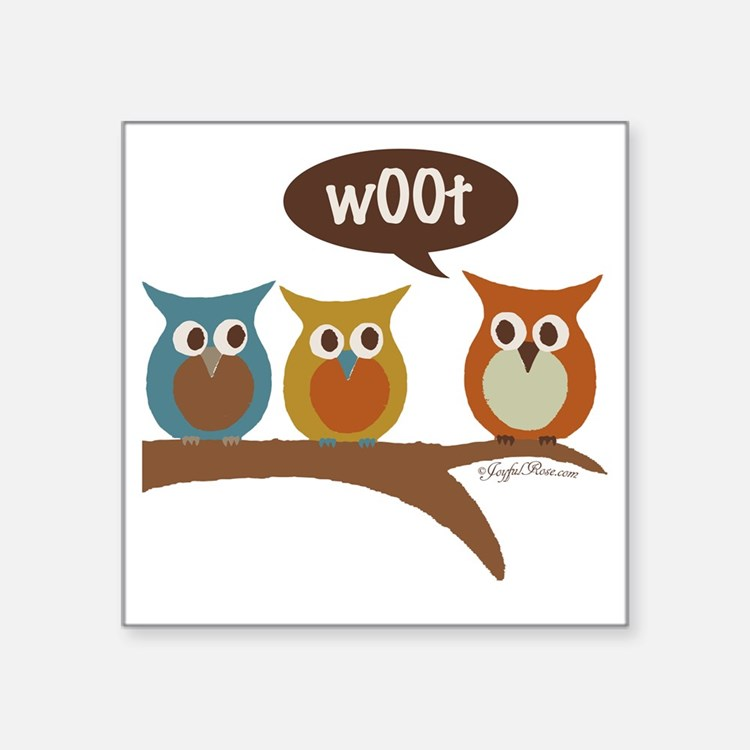"Cute Woot Square Sticker 3"" x 3"""