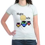 Night owl Jr. Ringer T-Shirt