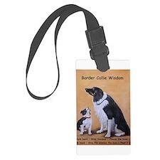 Border Collie Wisdom Luggage Tag
