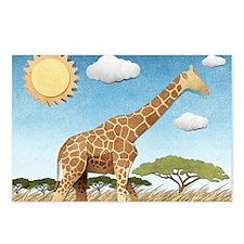 Paper Giraffe Postcards (Package of 8)
