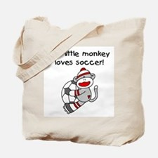 Little Monkey Loves Soccer Tote Bag