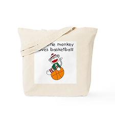 Little Monkey Loves Basketball Tote Bag