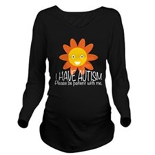 Cute Autism Long Sleeve Maternity T-Shirt