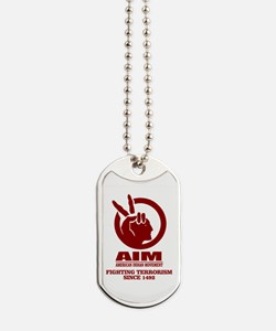 AIM (Fighting Terrorism Since 1492) Dog Tags